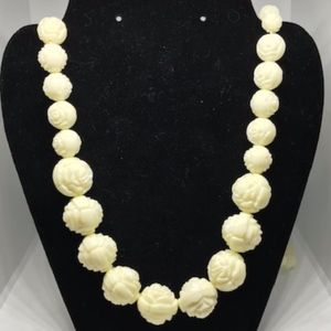 "Vintage Rose Bead 42"" Necklace"